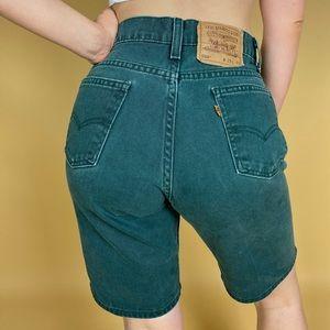 "Levi's Shorts - Vintage 90's ""JADE"" Orange Tab Levi's 😍"